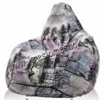 Кресло мешок груша из мебельного флока