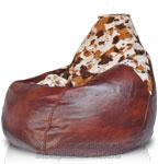Кресло-мешок Груша иск. мех корова
