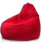 Кресло-мешок Груша из иск. замши Арбен цвет Красный