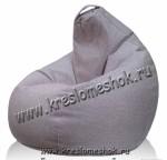 Кресло мешок из мебельной ткани рогожка
