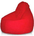 Кресло-мешок Груша из Велюра Астра цвет красный