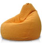 Кресло-мешок Груша из Велюра Астра желтый