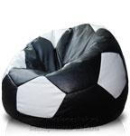 Кресло-мешок Футбольный мяч из искусственной кожи Сонтекс черного и белого цвета