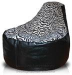 Кресло мешок пуф Банан Nergis-Zebra
