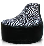 Кресло мешок пуф Банан из Нергис + Иск. Мех Зебра