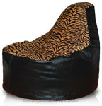 Кресло мешок пуф Банан из Иск. кожа + рогожка