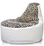 Кресло мешок Банан Иск. кожа + рогожка