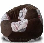 Кресло-мешок мяч микровильвет и холст