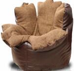 Кресло-мешок Цветок из шинила и искусств